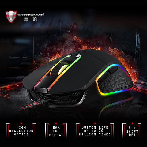 Motospeed V30 Professional USB Wired Gaming Mouse Laptop Mouse 3500DPI Computer Mouse Gamer For Laptop Desktop V10 V40 Mouse Islamabad