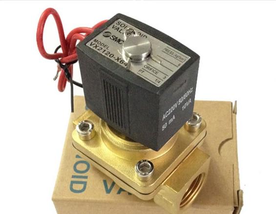 SMC solenoid valve VX2120-X64 1/4'' Water valve 3924450 2001es 12 fuel shutdown solenoid valve for cummins hitachi