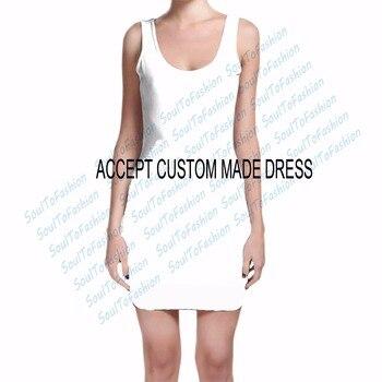 Hecho a medida Crea tus propios diseños estampado por sublimación en 3D vestido de seda color leche