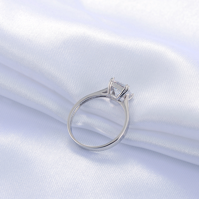 Sterling Silver Square with CZ Stone