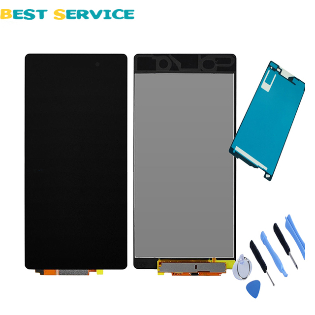 100% New For Sony Xperia Z2 D6502 D6503 D6543 L50W LCD Display with Touch Screen Digitizer Assembly + Adhesive Sticker + Tools