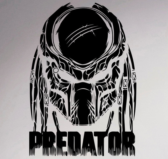 Predator Movie Wall Decal Film Poster Retro Vinyl Sticker