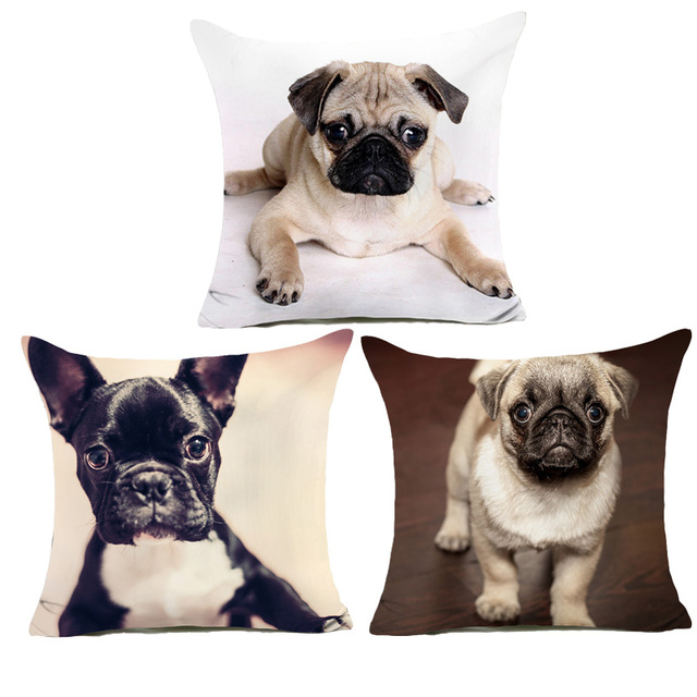 Comwarm Funny Cute Puppy Cani Cuscino Modello Carlini Poliestere Copertura del C