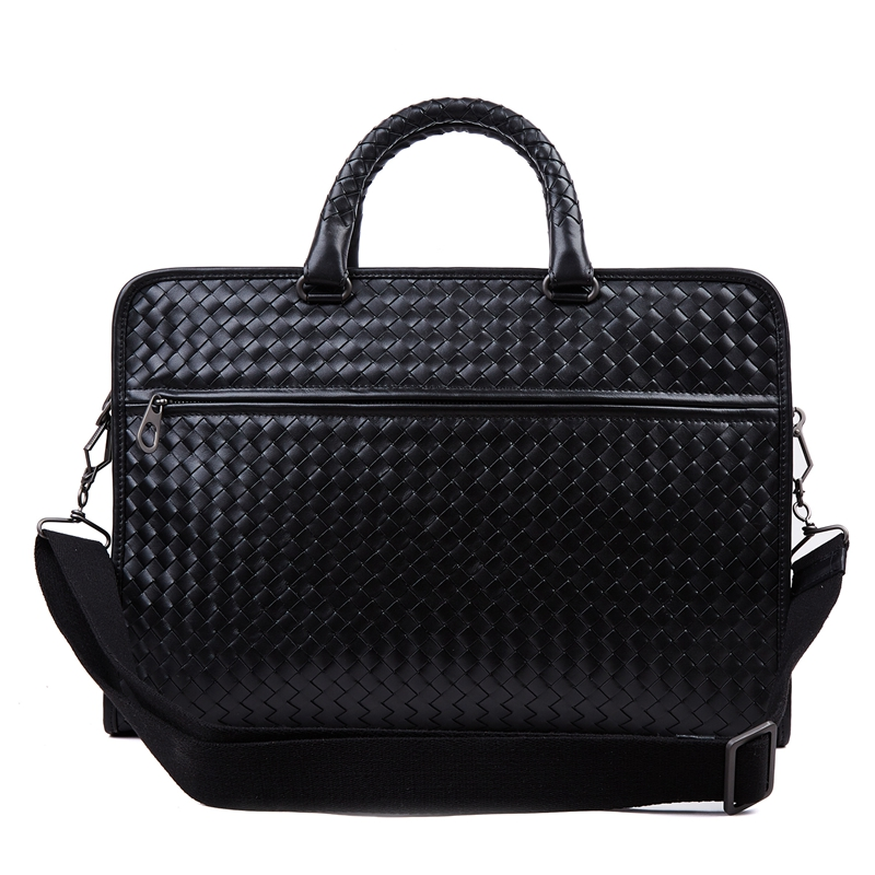 Chancelove Luxury Brand Genuine Leather Handbag Cowhide Business briefcase High Quality Commercial Computer Messenger Woven Bags men s genuine cowhide real leather messenger briefcase shoulder tote laptop computer business handbag bags top quality brand new
