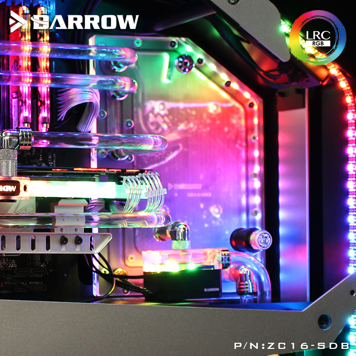 Barrow ZC16-SDB, Waterway Boards For Zidli ZC-16 Case, For Intel CPU Water Block & Single GPU Building цена и фото