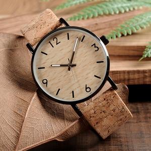 Image 4 - BOBO BIRD montres à Quartz pour hommes, avec cadran en liège souple, Grain de bois, comme article cadeau, boîte en acier inoxydable