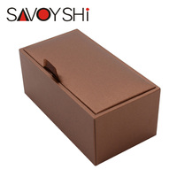 SAVOYSHI Brand Jewelry Box New Small Leatherette Paper Materials Package 8 6cmx4 5cmx3 8cm Size Cufflinks