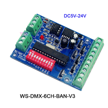 DC5V-24V,3CH/4CH/6CH/8CH/9CH/12CH LED RGB RGBW DMX512 Decoder Controller for LED strip light led module 2016 best price 1 pcs 27ch channel with rj45 9 group max 3a dmx512 led decoder controller for led module strip
