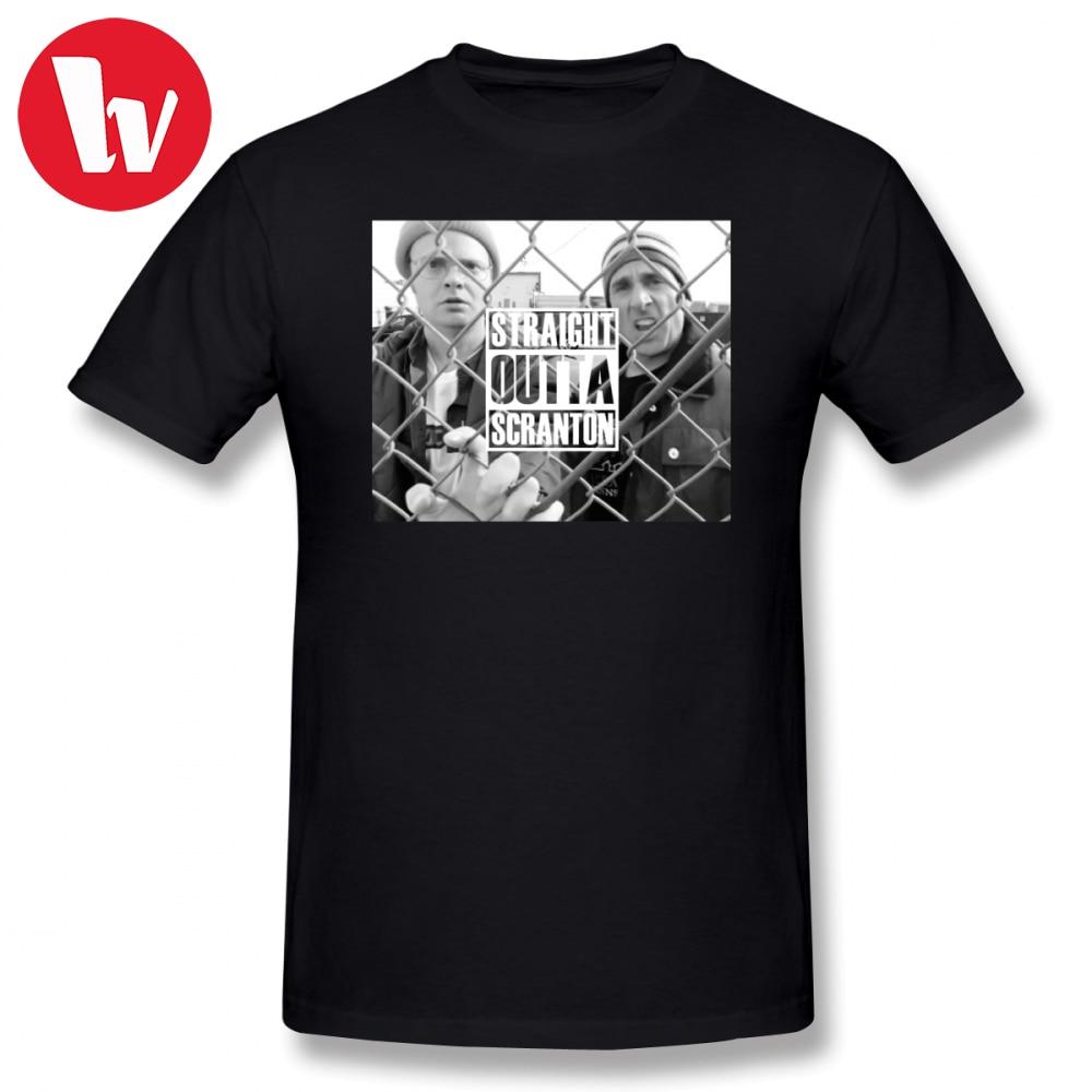 Michael Scott Tee Shirt Straight Outta Scranton T-Shirt Men Print Graphic Tees Men's Short Sleeve Cotton Fashion T Shirt 4XL