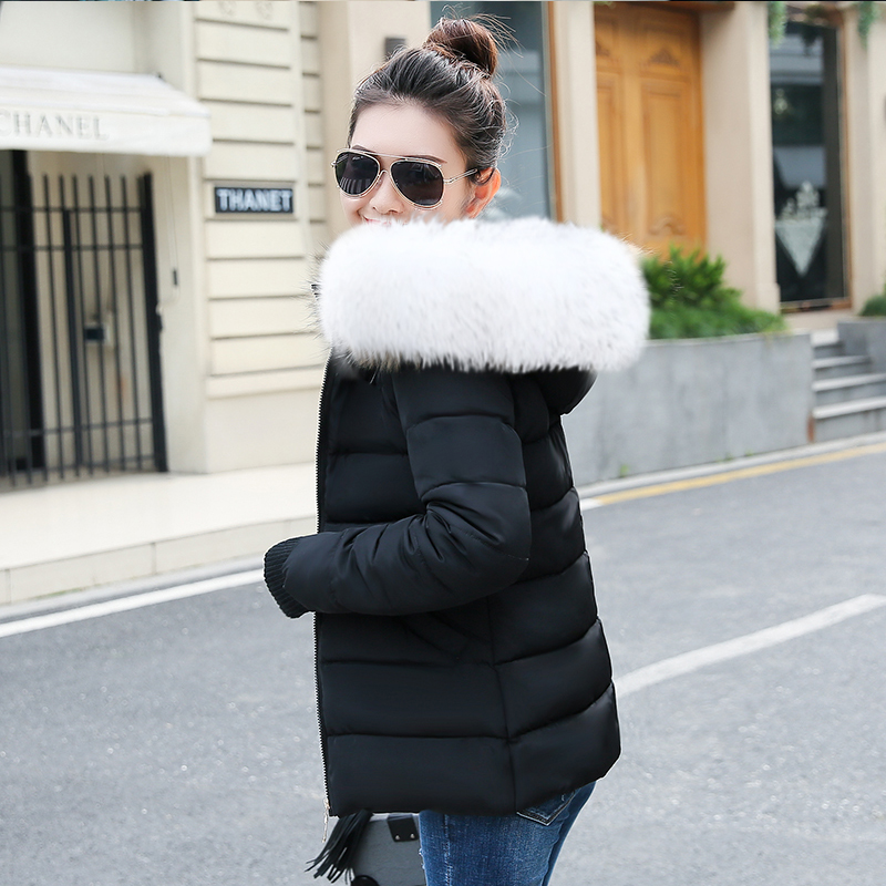 2018 Fashion Wadded jacket Female Winter Coat Women New Slim Warm Down cotton clothing Long sleeve Coat Warm Winter Jackets