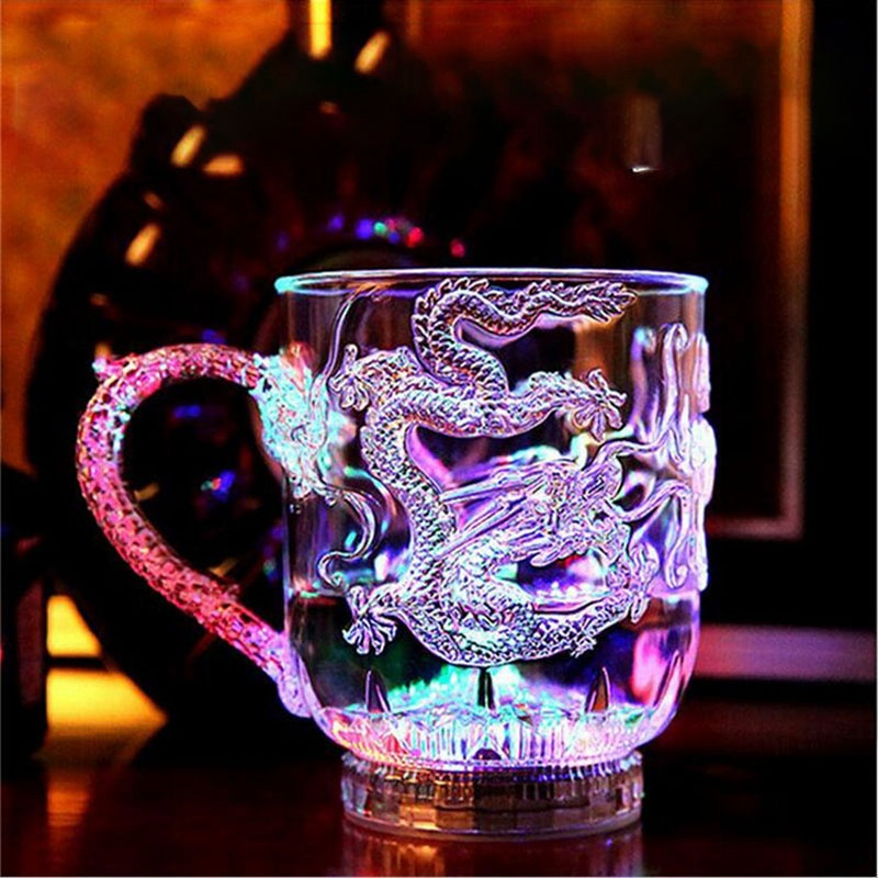 Unique Design LED Toy Light Color Change Pouring Water Activates Light up Dragon Luminous Cup for Holiday Party Decoration Lamp (3)