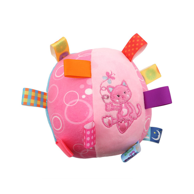 Color Baby Children/'s Ring Bell Ball Baby Cloth Music Sense Learning Toy Ball JP