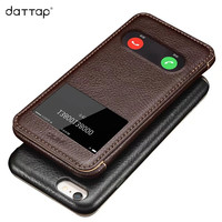 Genuine Leather Case For IPhone 6 6s Case Flip Phone Bags Luxury Full Protection View Window