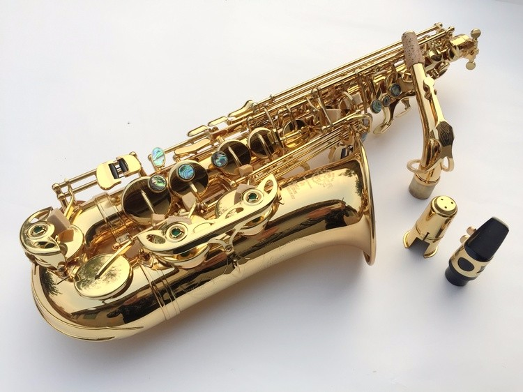 Alto Saxophone Best selling French Selmer Paris Saxophone Alto 802 and flat Sax top musical instrument electrophoresis of gold alto saxophone 54 eb flat alto sax top musical instrument sax wear resistant black nickel plated gold process sax