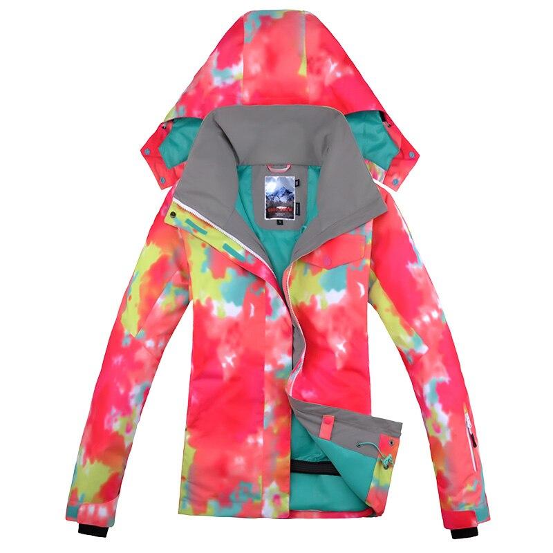 Prix pour Nouveau femmes gsou snow bande veste snowboard ski camping manteau coupe-vent imperméable à l'eau en plein air sport wear vêtements chaud ski veste
