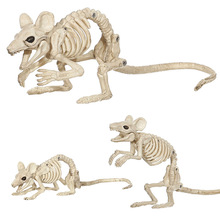 Halloween Decoration Props Animals Skeleton Mouse Dog Cat Skull Bone Ornaments Hallowmas Horror Haunted House Party Decoration