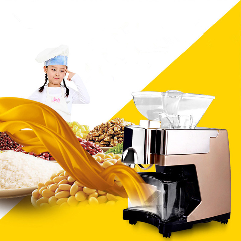 Home use mini oil press machine sunflower oil extractor vegetable seeds oil mill ZF