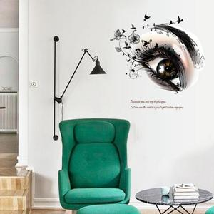 Виниловые наклейки на стену с большим глазом для салонов красоты, сделай сам, съемные наклейки для домашнего декора, постер для гостиной, на...