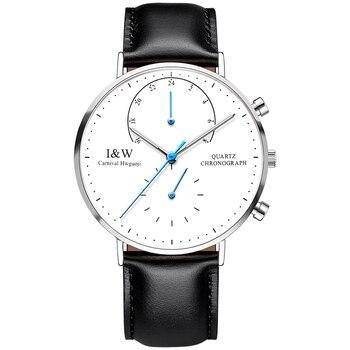 Luxury Brand Carnival Watch Men Japan Quartz Men Watches Luminous Watch Male Multiple Time Zone Military reloj hombre C8787G-4