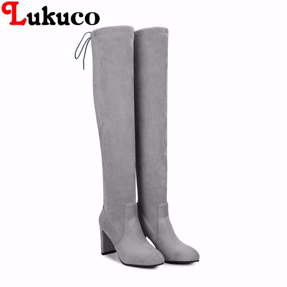 2018 sweet style over-the-knee boots large size 42 43 44 45 46 47 48 lace-up design women sexy shoes real pictures free shipping