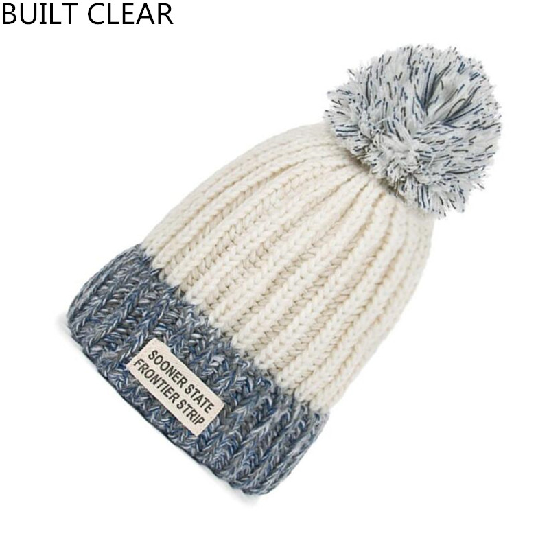 (BUILT CLEAR) Skullies winter women blended wool hat beanie knit hat ski cap hat wholesale hat skullies