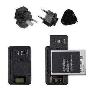 Image 2 - شاحن بطارية عالمي بشاشة مؤشر LCD للهواتف المحمولة ومنفذ USB