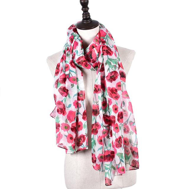 Spring Flower Scarves | Lightweight Scarves