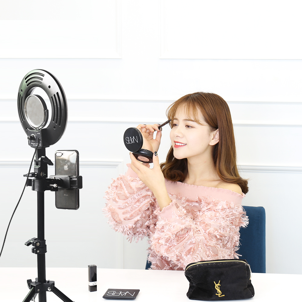 CY 8inch 24W 120PCS LED Ring Light 5500K Camera Photo Studio Phone Video Photography Dimmable Ring Lamp With Tripod stand fotopal led ring light for camera photo studio phone video 1255w 5500k photography dimmable ring lamp with plastic tripod stand