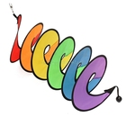 Foldable Rainbow Spiral Windmill Wind Spinner Camping Tent Home Garden Decor Hot#T025#