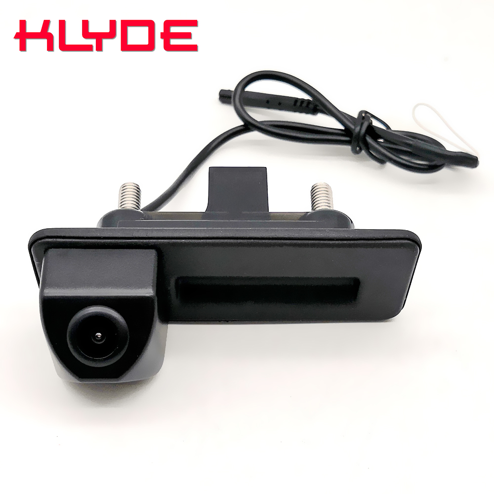 Auto Trunk Handle Car Rear View Reverse Backup Parking Camera For Skoda Octavia Fabia Superb Rapid Spaceback/Audi A1 A4L A6L Q3-in Vehicle Camera from Automobiles & Motorcycles