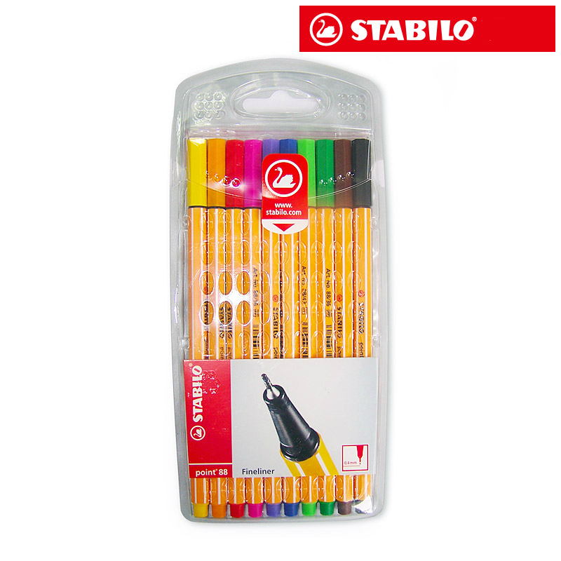 STABILO swan 88 resurrect fiber pen 0.4mm fineliner pen Stabilo art sketch pen paperlaria art marker gel pen kantoor Escolar