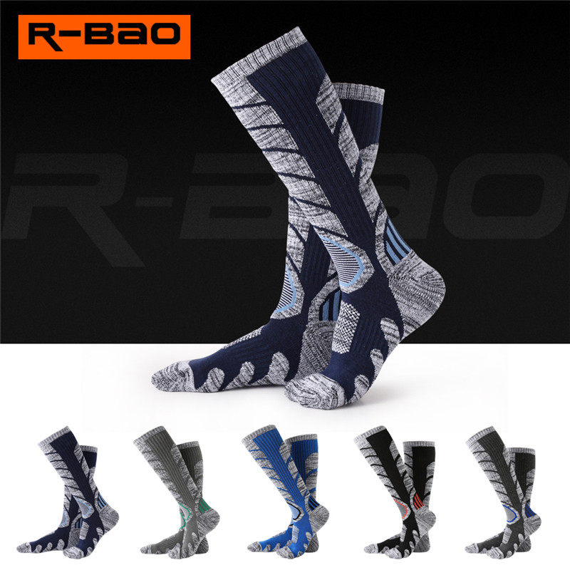 R-BAO Winter Adult&Teenager Thermal Ski Socks Cotton Sport Snowboard Cycling Socks Thermosocks Leg Warmers For Men Women RB3301