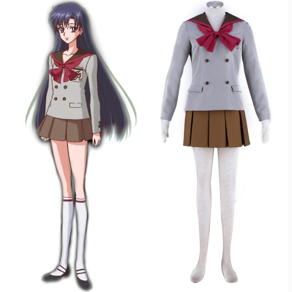 Pretty Guardian Sailor Moon Crystal Sailor Mars Cosplay Rei Hino Japanese School Uniform Student Costume Halloween Costumes