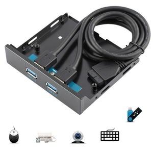 Image 2 - Connecteur USB 3.0, 20 broches, 2 Ports, panneau avant, support de contrôleur de moyeu Bay, support de câble Plug and Play disc interne