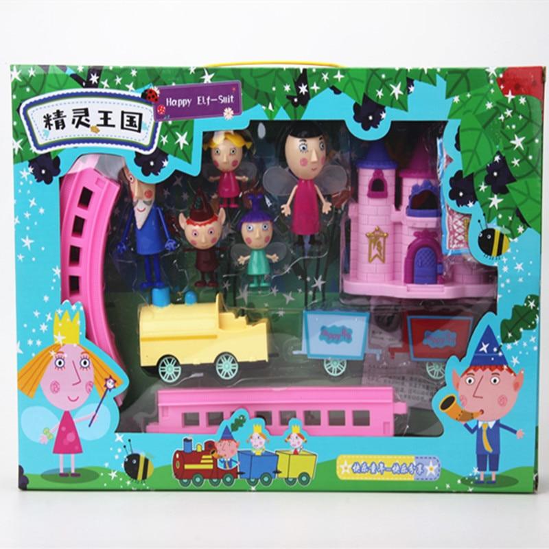 Neue Kleine Königreich Ben Holly Action Figur Spielzeug Elektrische Zug Lustige Spielzeug Ben und Holly Kleine Königreich Figuren Spielzeug Kinder geschenk