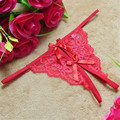 Sexy Women's Transparent Thong Underwear Women Lace G-String Sexy V-string Panties Briefs Lingerie Tanga Bowknot Underwear