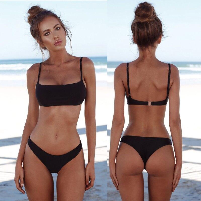 4adace2219 GLANE 2017 Hot New Women Bikini Set Bandage Push Up Padded Swimwear  Swimsuit Bathing Beachwear Summer Girl Beach Dress Russia -in Bikinis Set  from Sports ...