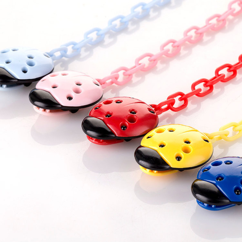 Toddler Baby Ladybug Dummy Pacifier Clip Chain Holder Soother Nipple Strap Wholesale Supplier Baby Accessories