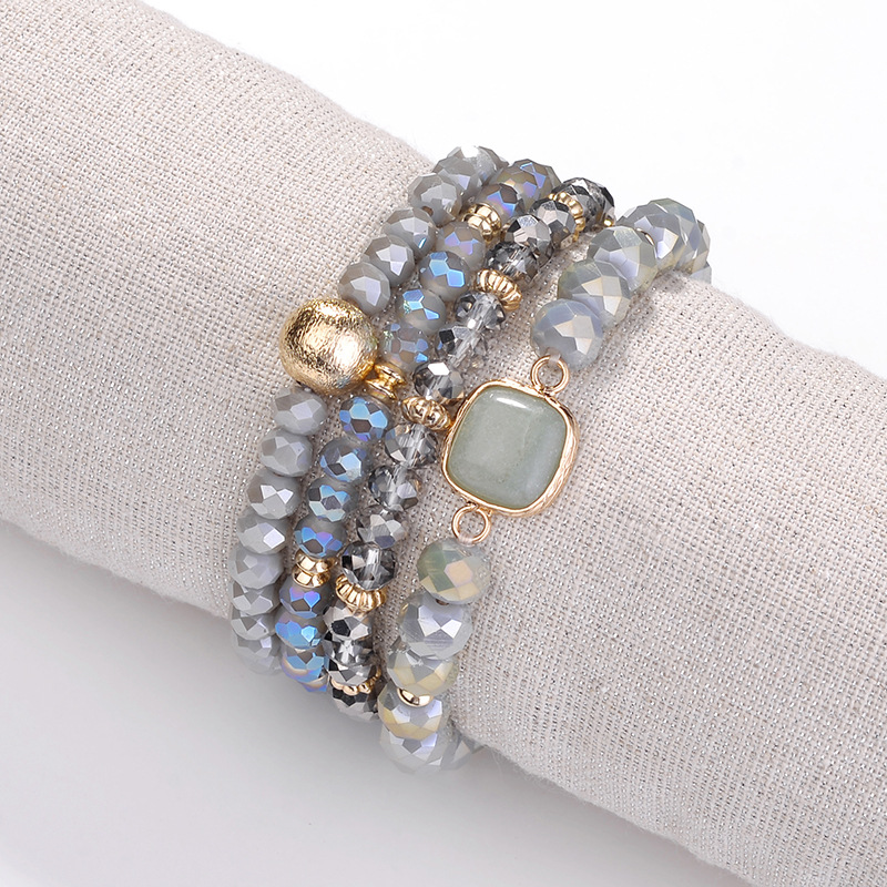Joolim Jewlery Wholesale Natural Stone Bead Elastic Bracelet for Women in Strand Bracelets from Jewelry Accessories