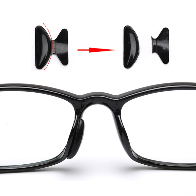 10 Pairs Eyeglasses Sunglasses Adhesive Silicone Non-slip Stick on Nose Pads