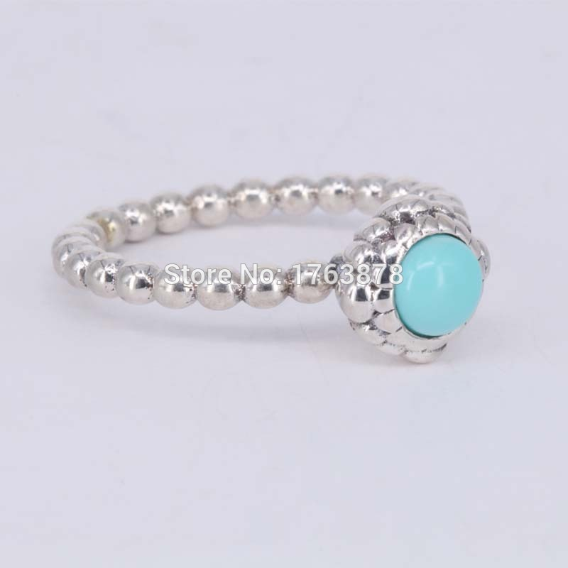 4f8793123 Turquoise December Birthday Bloom Stackable Ring Gorgeous 925 Sterling  Silver Rings For Women Size 5 6 7 8 9