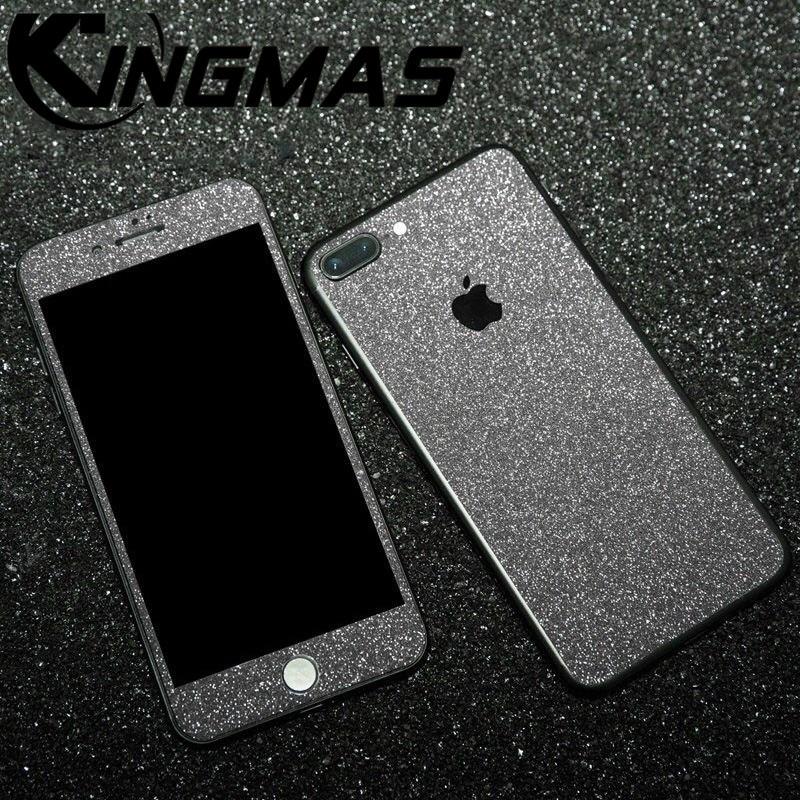 Luxo brilhante cor frontand voltar filme para iphonex xs xr 11 pro max 8 7 6 plus brilhante película protetora risco para apple filme à prova