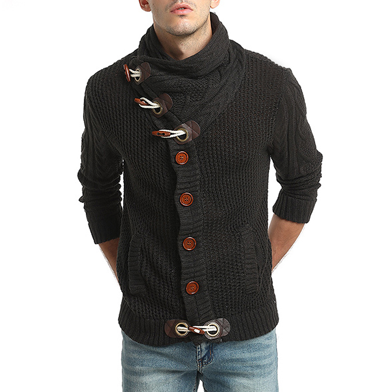 Men 'S Sweater  Brand New Design Casual Thicker Sweater Turtleneck Slim Fit Knitting Mens Sweaters Men Cardigan Men M -Xxl