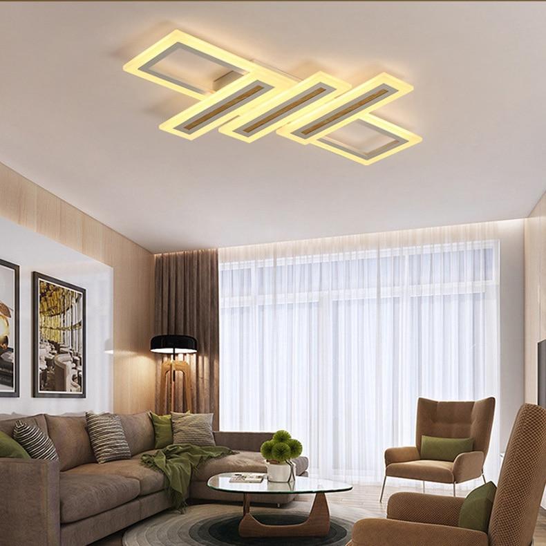 Modern Contemporary LED Ceiling Light Fixture for Living Room Bedroom Flush Mount Metal Acrylic Light lamp