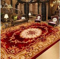 3d flooring Brown red European stone marble style ceiling floor pvc floor wallpaper 3d floor painting wallpaper