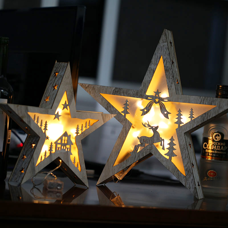 AA Dry Battery Wood LED Star Night Light Children Table Decorative Lamp Kids Room Bedside Baby Nightlight For Bedroom itimo led night light baby sleeping kids bedside light bedroom decoration cartoon star night lamps novelty nightlight