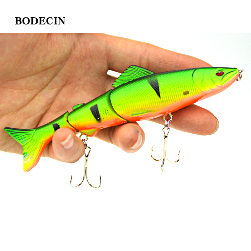 1pcs 17.7g 125mm Fishing Wobblers Lure Wobbler Lures Bait For Fish Peche 3 Segments Minnow Swimbait Hard Baits With Steel Ball wdairen 1pcs laser plastic 3d eye 11cm 11 7g hard lures fishing baits crank bait wobblers plug freshwater fish lure fa 322