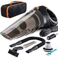 4800 pa saugen Auto Vakuum Reiniger, die macht ihr auto innen schmutz-freies mit high-power 120 W motor 2 HEPA-filter extra tragen tasche