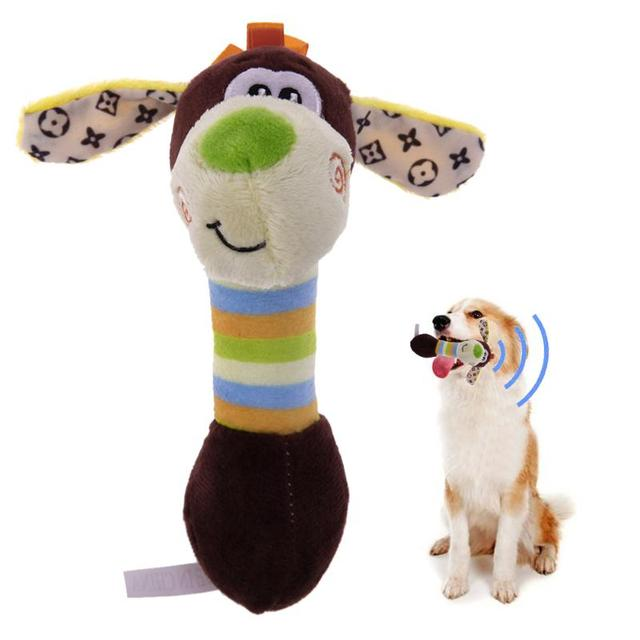 Cute Pet Dog Toys Chew Squeaker Animals Pet Toys Plush Puppy Honking Squirrel For Dogs Cat Chew Squeak Toy Dog Goods 4