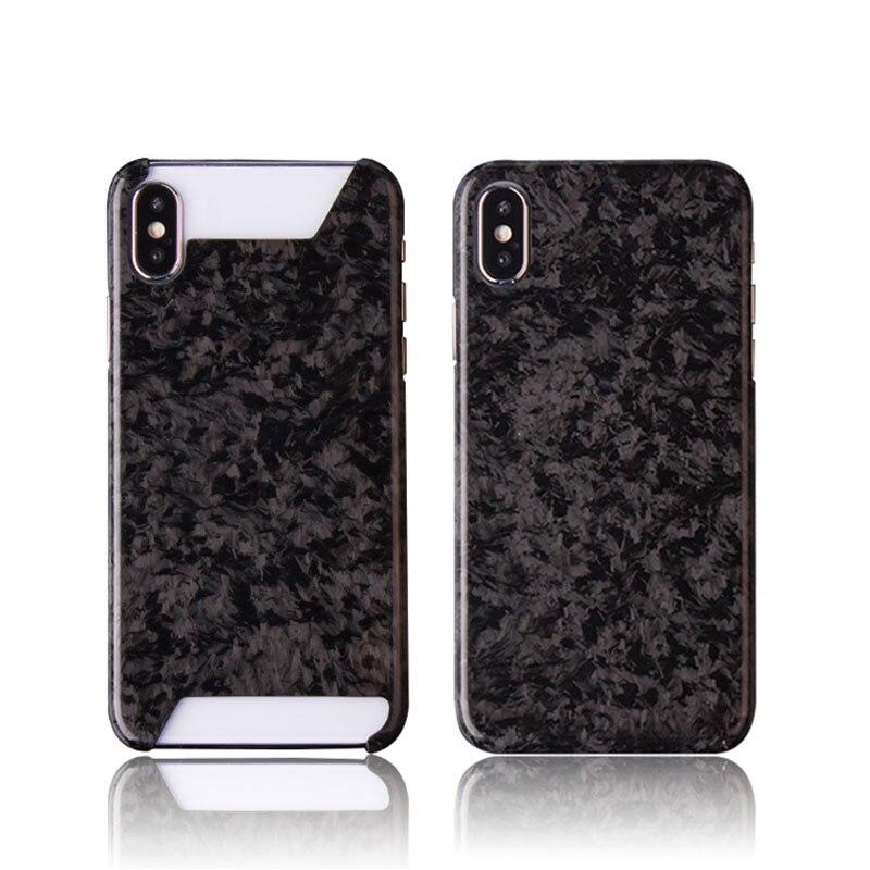 Жесткий ультра тонкий чехол из чистого углеродного волокна для мобильного телефона, Модный чехол для Iphone 7 8 plus X S R MAX, чехол для телефона в де